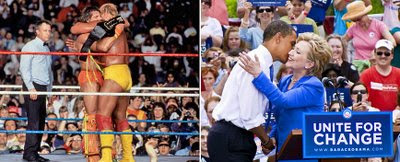 unity, obama, clinton, democrats, hulk hogan, ultimate warrior