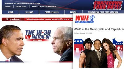 obama, mccain, wwe, youth vote