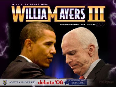 obama, william ayers, mccain, third debate, economy, wrestlemania