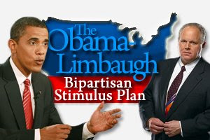 president obama, rush limbaugh, stimulus plan