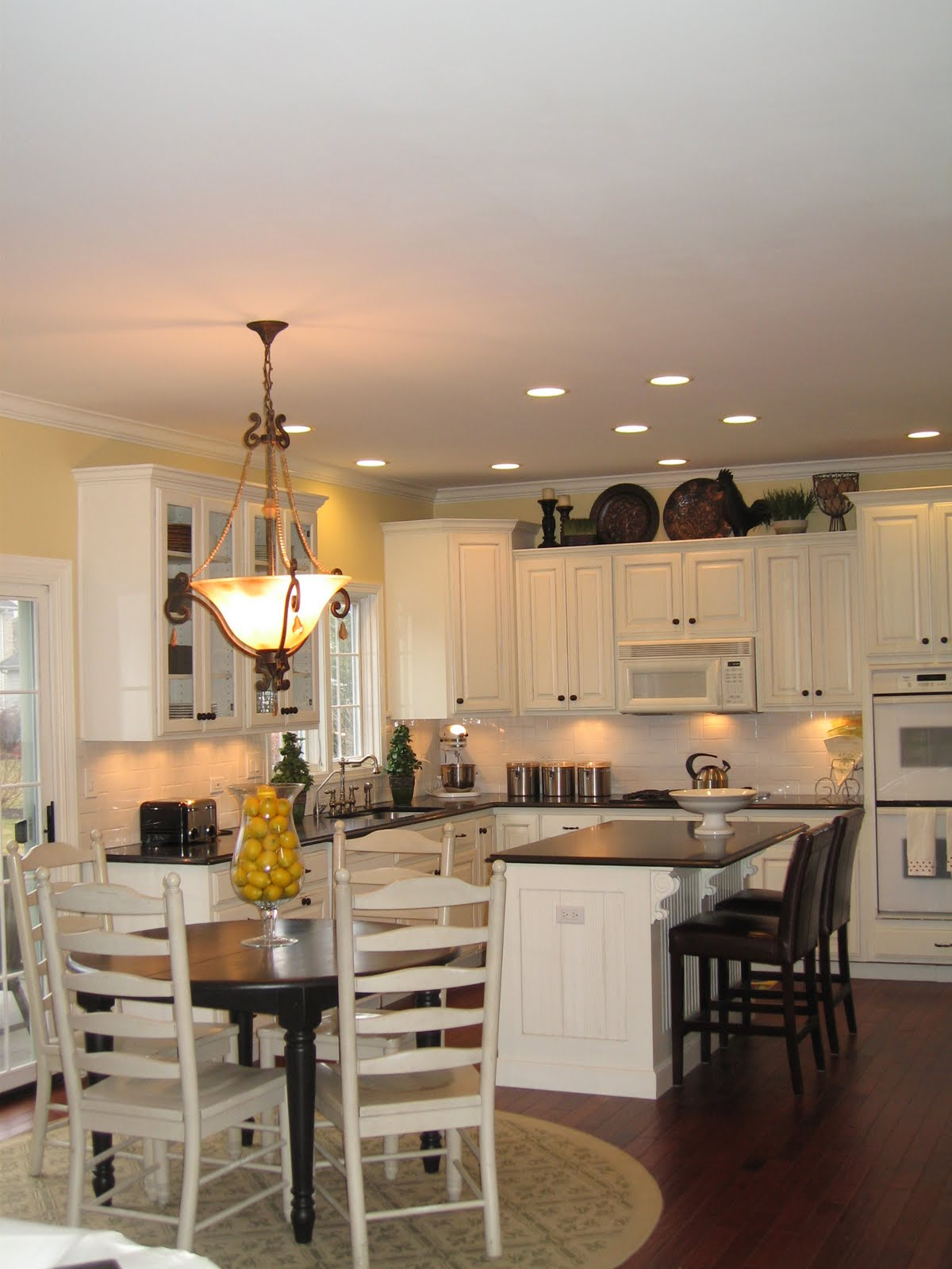 Distance Between Pendant Lights Over Dining Table Large Size Of - Kitchen table lighting ideas
