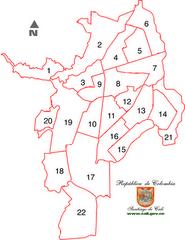Mapa de Cali - Comunas
