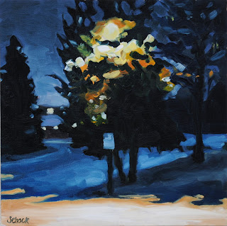 Colorado winter oil painting