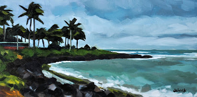 Hawaii landscape painting by Sharon Schock