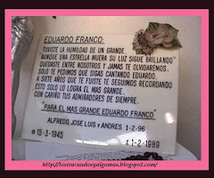 PLACA RECORDATORIA A EDUARDO  FRANCO
