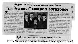 NOTA  EN EL DIARIO  AJA - 2006