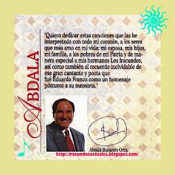 INTERIOR DEL C.D.  ABDALA Y LOS IRACUNDOS- UN LOCO QUE AMA