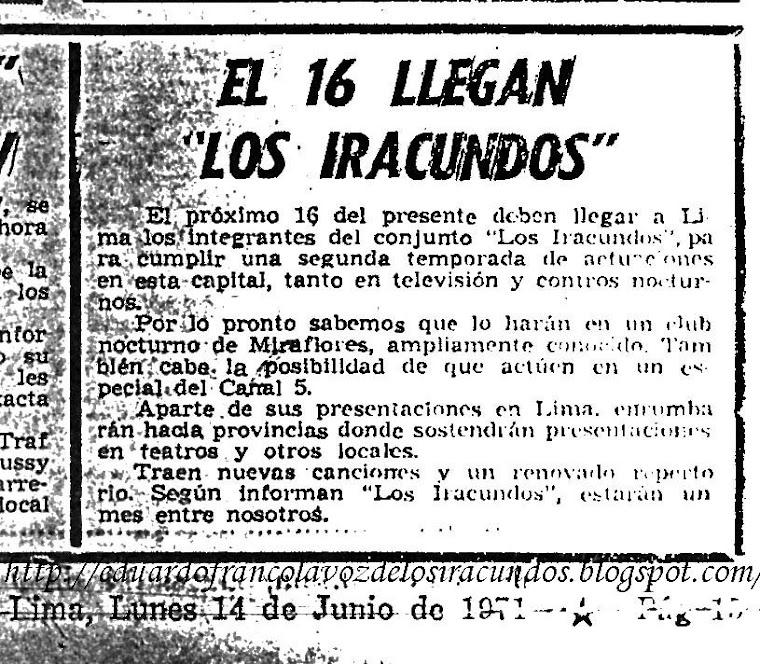 LOS IRACUNDOS 1971