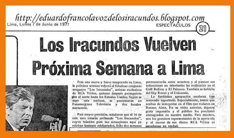 VISITA DE  EDUARDO  FRANCO  CON LOS IRACUNDOS
