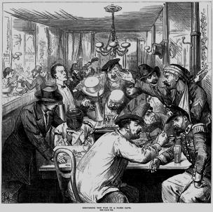Pariisilaista kahvilakeskustelua 1870-luvulla