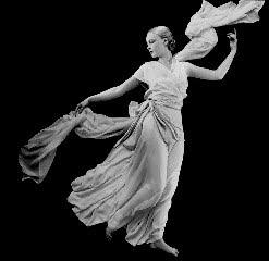Vionnetin ilmavan kevyt jumalatar-puku vuodelta 1931.