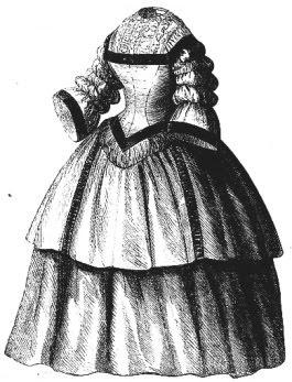 Godey's Lady Book lehdessä julkaistu 1859 uusrenesanssipuku löytyy monesta paikkaa netin kaavasivuilta.