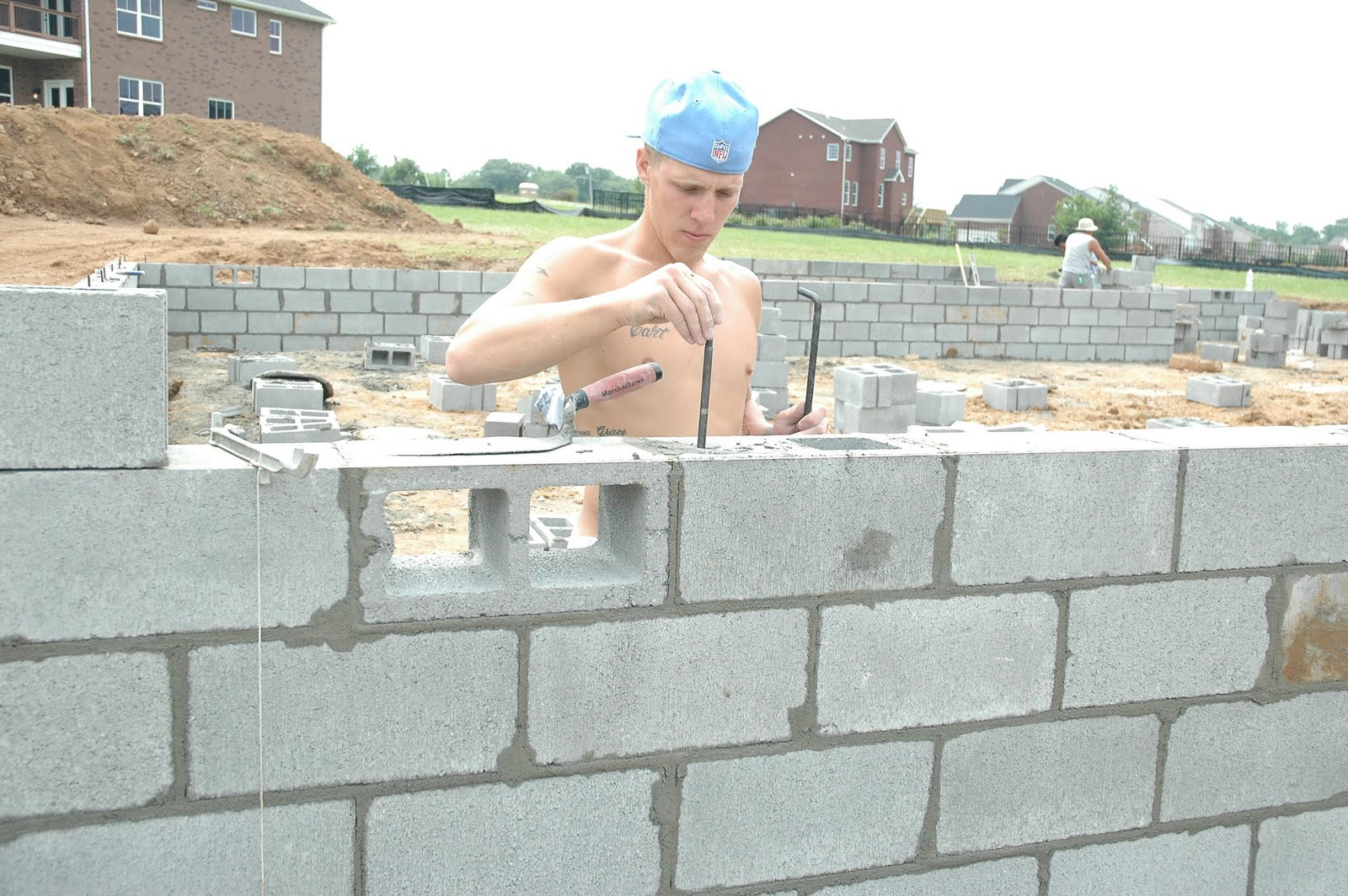 Cable tite brian harris homes block foundations for Block foundation