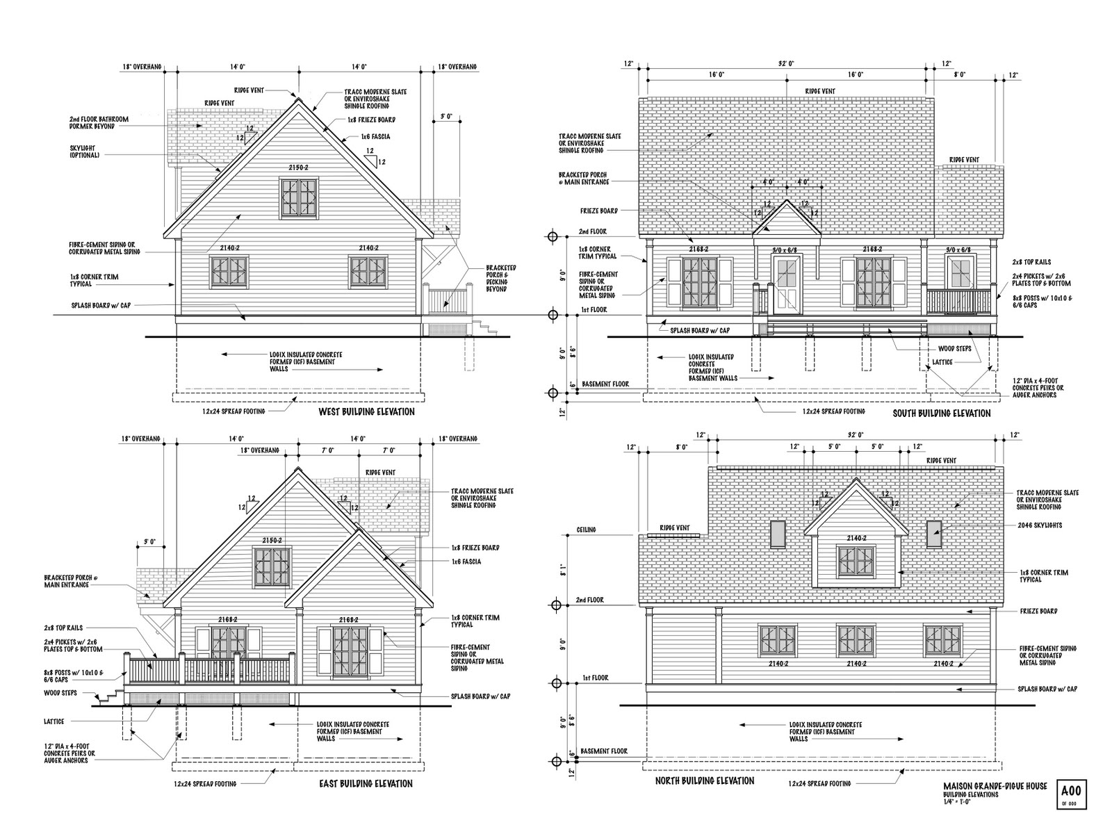 Plan Elevation Maison : Nb superinsulated house april