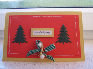 Christmas cards - red&gold 3