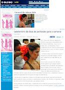 HBD SPA mostra como usar flores nos cabelosNo Globo Online