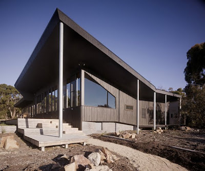 The Dark House designed by Opat Architects