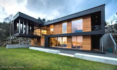 Modern Home Overlooking Coast Archipelago
