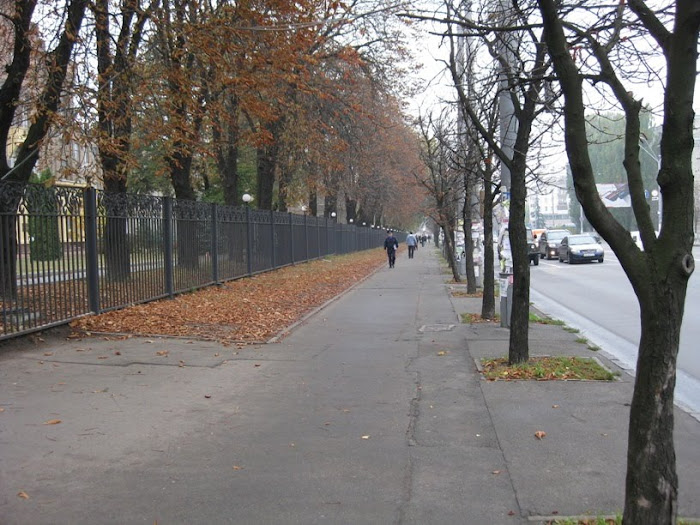 Footpath adjacent to Sevastopol Square