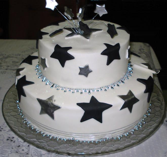 Estrelas Prata/Preta