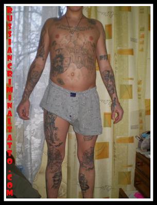 italian mafia tattoos. Russian Criminal Tattoo Photos