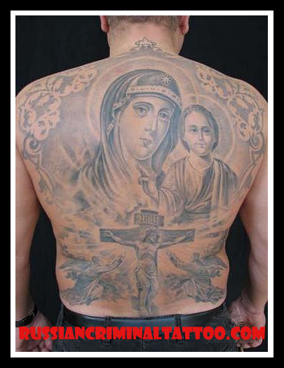 Тату с крестом на спине