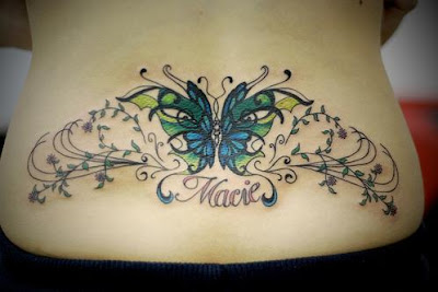 Feminine Tattoos Design With Image Butterfly Tattoo Designs On The Lower Back Picture 4