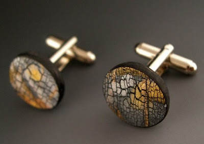 polymer clay cuff links