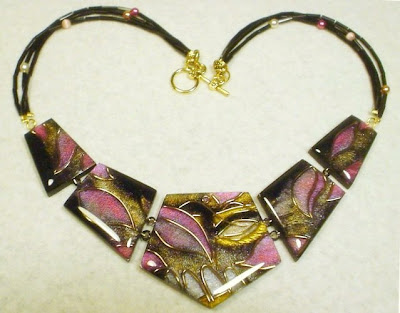 deviantart, faux cloisonne, polymer clay, student work