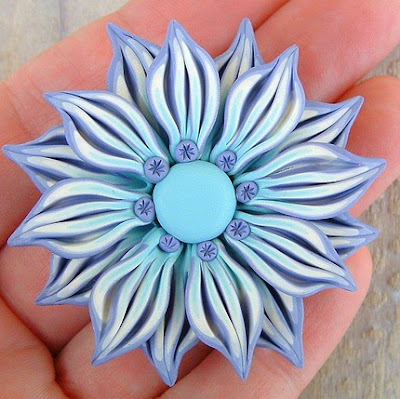 polymer clay,  flowers, beads