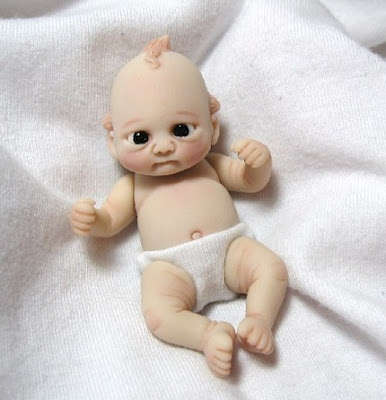 polymer clay baby doll