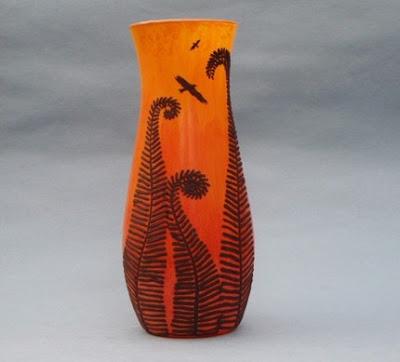 polymer clay vase