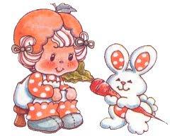 apricot 01 783262 Imagens da Moranguinho Clássica para decoupage para crianças