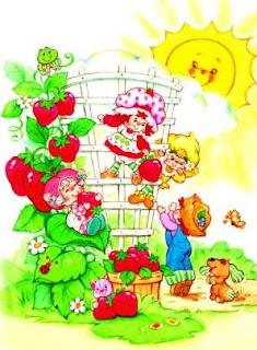 Imagens da Moranguinho Clássica para decoupage para crianças