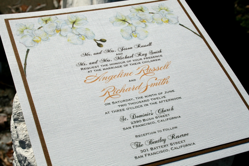 White Orchid Wedding InvitationsFirst Design of 2011