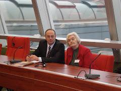 доц. Юлия Захариева и д-р Атанас Семов - учeбно посещение на магистрантите в Съвета на Европа