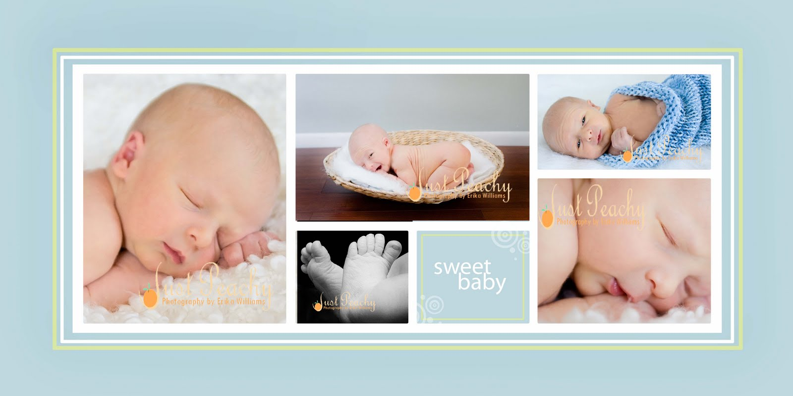 Just Peachy Photography by Erika Williams: Sample Newborn Boy Collage