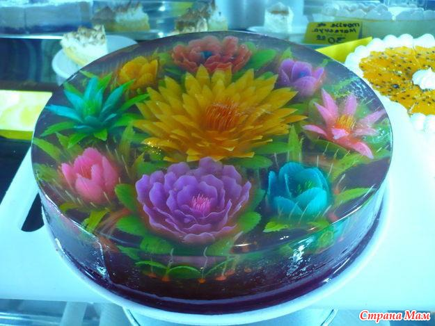 Jello Art Flowers http://the-w-s.blogspot.com/2010/12/playing-with-food.html