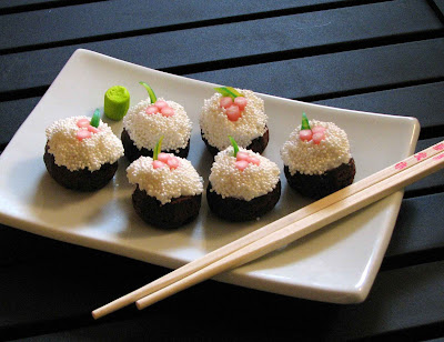 sushi+8 sushi cupcakes