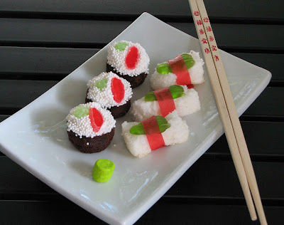 sushi+1 sushi cupcakes