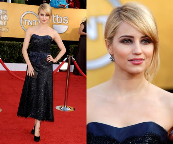 Length adjustment: not really a problem with tea length, but Dianna Agron is