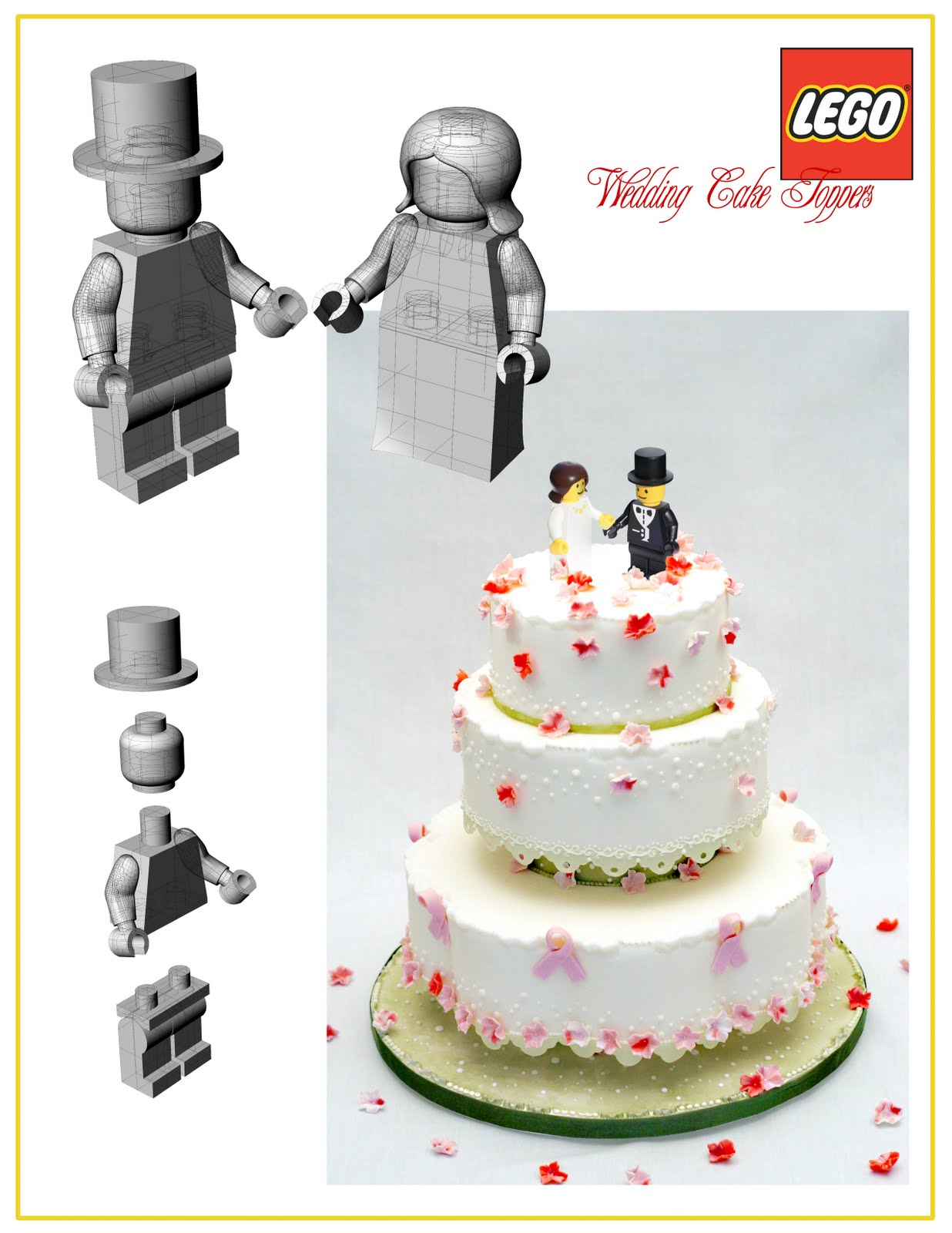 Len Nicholas Design: Lego Wedding Toppers