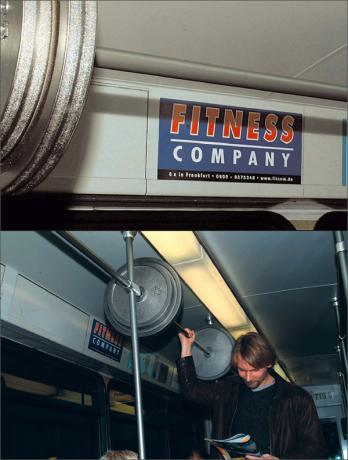 Creative advertising - Fitness company