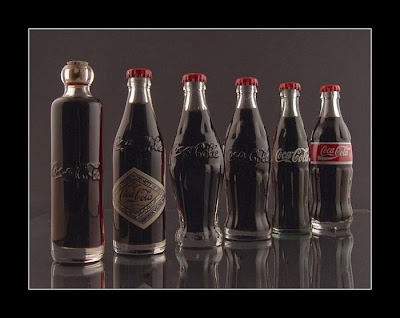 history of Coca Cola bottle