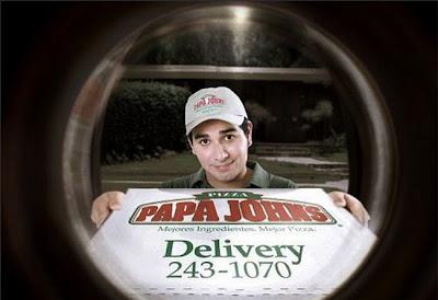 Creative pizza advertisement