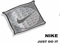 Funny Nike condoms package