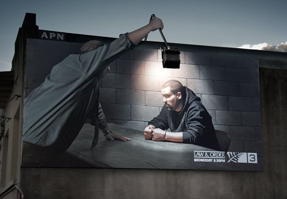 Law & Order  creative outdoor ad