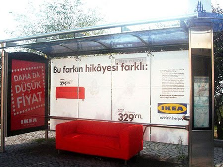 Ikea bus stop creative advertisement