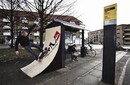 Quiksilver creative bus stop advertisement