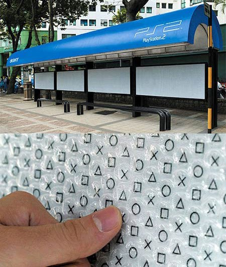 Playstation bus stop creative advertisement